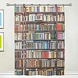 Sheer Curtain for Door Window 1 Panel Scarf Valances Wide Width Gauze Curtain for Bedroom 55 x 78 Inch,Bookshelf Scarf Curtain