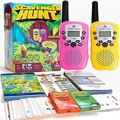Scavenger Hunt Game for Kids - Walkie Talkies Outdoor Activities for Kids Camping Games for Families Outdoor Spy Kit for Kids Treasure Hunt Fun Outdoor Activities for Kids Board Games Girls Boys Teens by Shenzhen Hui Ke Electronics Co., LTD
