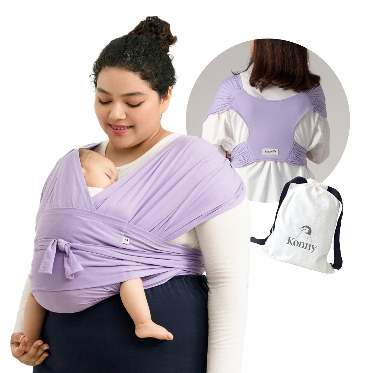 Konny Baby Carrier Ultra-Lightweight Wrap Sl Genuine Free Shipping Max 62% OFF Hassle-Free