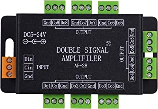 XUNATA LED Pixel Signal Repeater Amplifier Controller for WS2812B WS2811 SK6812 LED Strip Lights, DC5V/12V