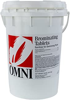 Omni 1-Inch Swimming Pool and Spa Bromine Solid Tablets (50 Lbs)