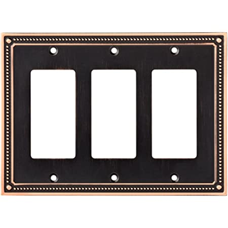 Cosmas 44032-ORB Oil Rubbed Bronze Triple Toggle Switchplate Wall Switch Plate Cover