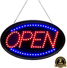 Bright LED Open Sign. WAENLIR 23x14inch Business Advertisement Board High Visibility Electric Display Sign,Two Modes Flashing&Steady Light for Business,Walls,Window,Shop,Bar,Hotel
