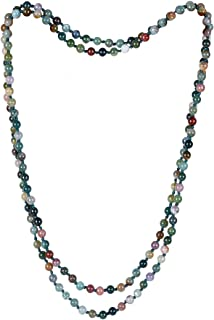Endless Infinity Necklace 6mm 8mm 48 59 Inch Semi-Precious Stone Bohemia Long Necklace