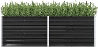 vidaXL Podwyższona grządka, skrzynka na rośliny ogrodowe, skrzynka na rośliny tarasowe, grządka warzywna, grządka ogrodow...