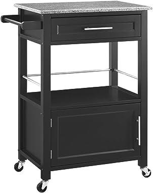Linon Cayden Black Kitchen Cart,