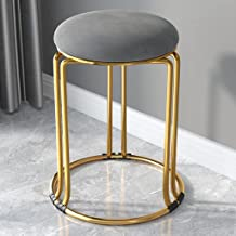 ZNBJJWCP Household Furniture Dining Stool Nordic Suede Leather Living Room Chairs Thickened High Stools Can Be Stacked Din...