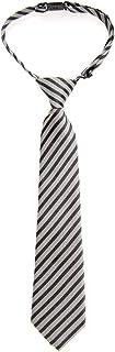 Retreez Matte Classic Striped Woven Microfiber Pre-tied Boy's Tie - Various Colors