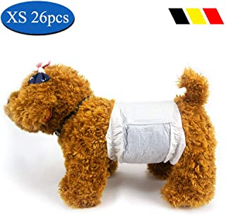 DONO Disposable Male Wraps Dog Diapers Super Absorbent Soft Doggie Diapers, Including 3 Sizes, Extra Small, Small, Medium, Pet Diapers Dogs Cats