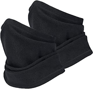 CRUOXIBB Polar Fleece Neck Warmer, Winter Neck Gaiter Windproof Ski Mask Cold Weather Face Cover For Men Women Out Sports