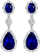 SELOVO Teardrop Drop Dangle Earrings Silver Tone Party Jewelry