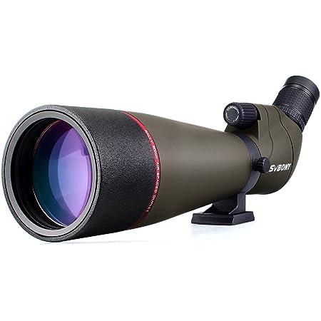 SVBONY SV13 フィールドスコープ ズーム単眼鏡 傾斜型 20-60x80mm Bak4プリズム FMC IPX7防水 天体観測 野鳥観察 アーチェリー