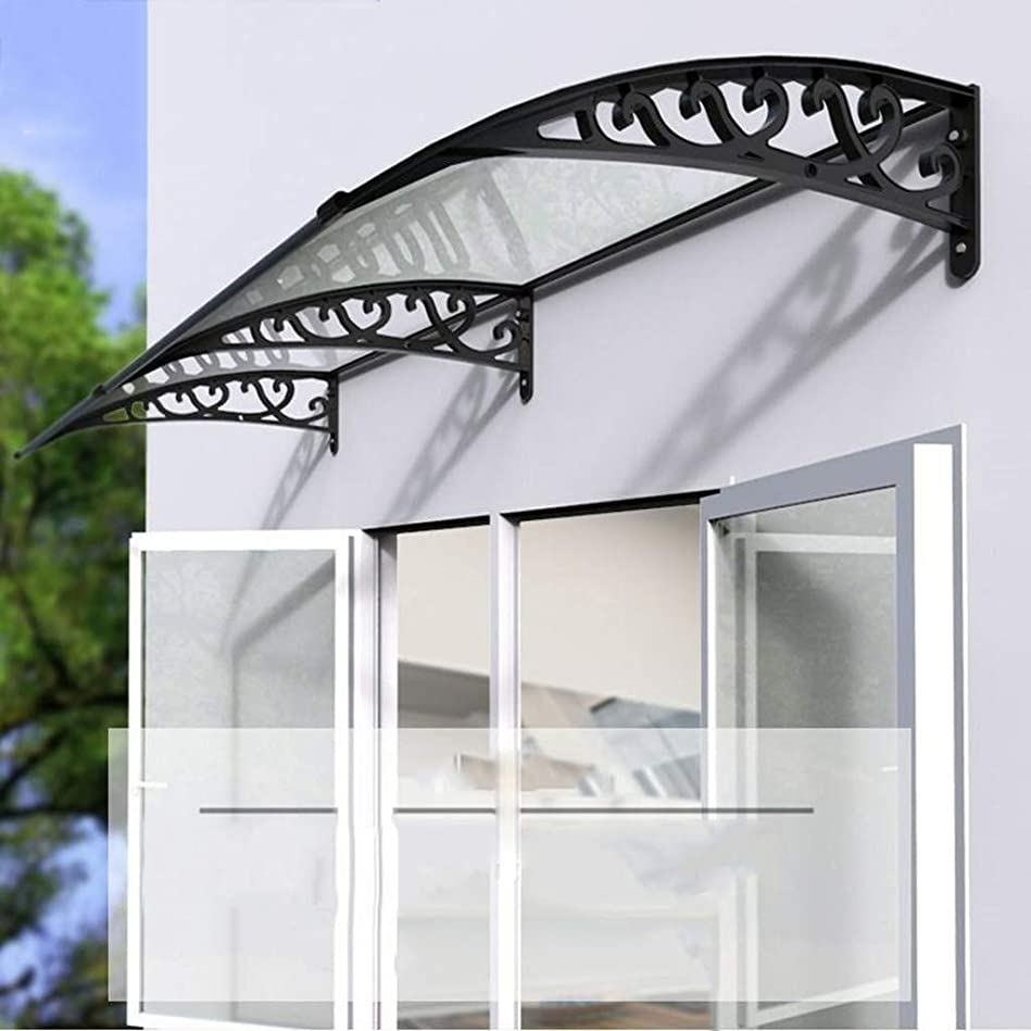 キャリア収入役に立たないドアキャノピー ポーチBalconyoptionalサイズに適しドアキャノピーオーニング窓キャノピー、透明なポリカーボネートパネル、風/雨や雪を耐えます、 テラスシェードキャノピー (Size : 60×60cm)
