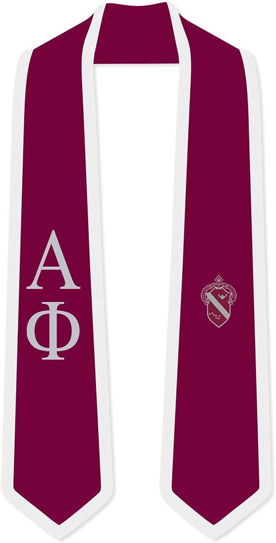 Alpha Phi Greek Max 53% OFF 2 Tone Lettered San Antonio Mall Sash Stole Graduation