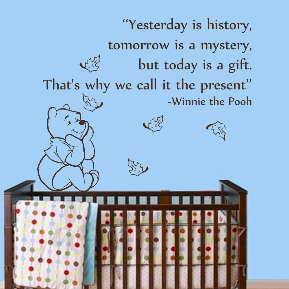 Wall Decals Be super welcome Quotes Winnie The Pooh Quote Vi History Max 79% OFF Yesterday is