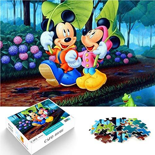 Mini 1000 piezas mickey mouse imágenes hd módulo patrón ensamblaje persecución de niñas los accesorios 38x26 cm rompecabezas de papel