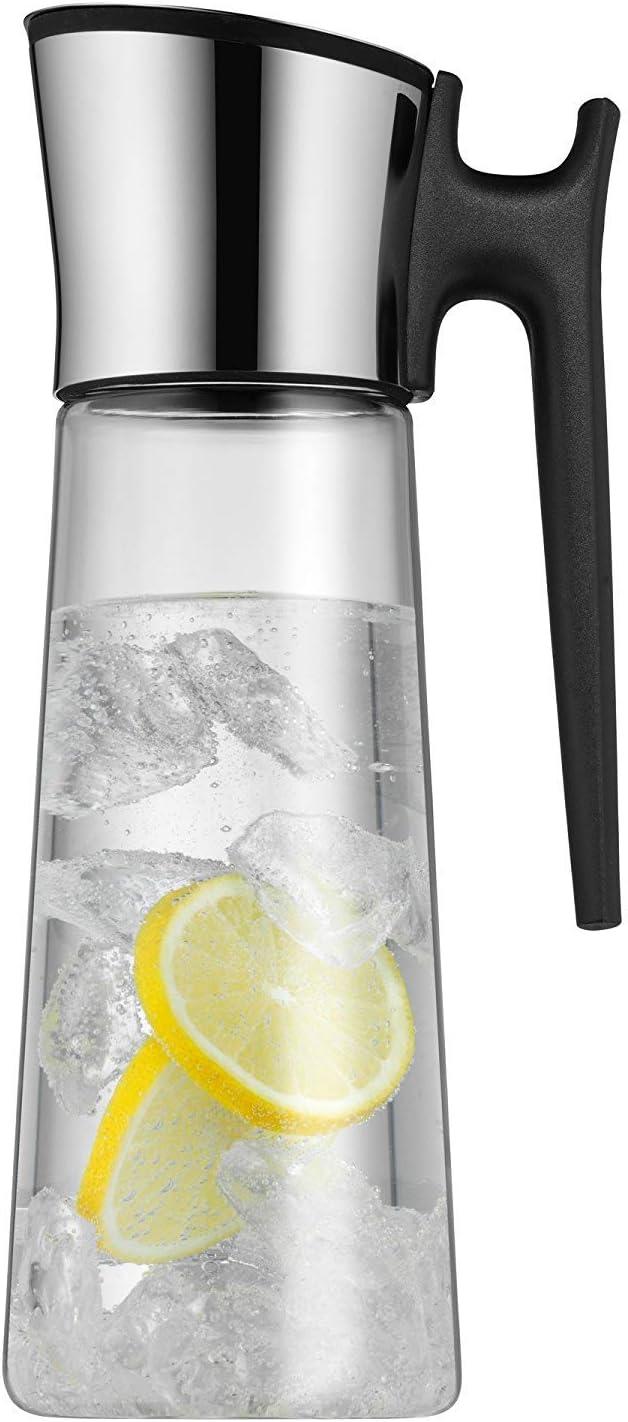 WMF - Jarra de agua de 1,5l, altura 31cm y sistema Close Up, tapón color negro, colección Basic