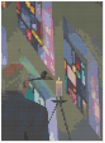 Verlichting Kerk Kaars - Cross Stitch Kit