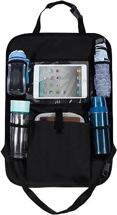 """Rovtop Organizador para Asientos de Coches Organizador de Coche con Bolsillo de la Pantalla Táctil para tablet Android y iOS hasta 10 """"- Protector Trasero del Asiento de Coche"""