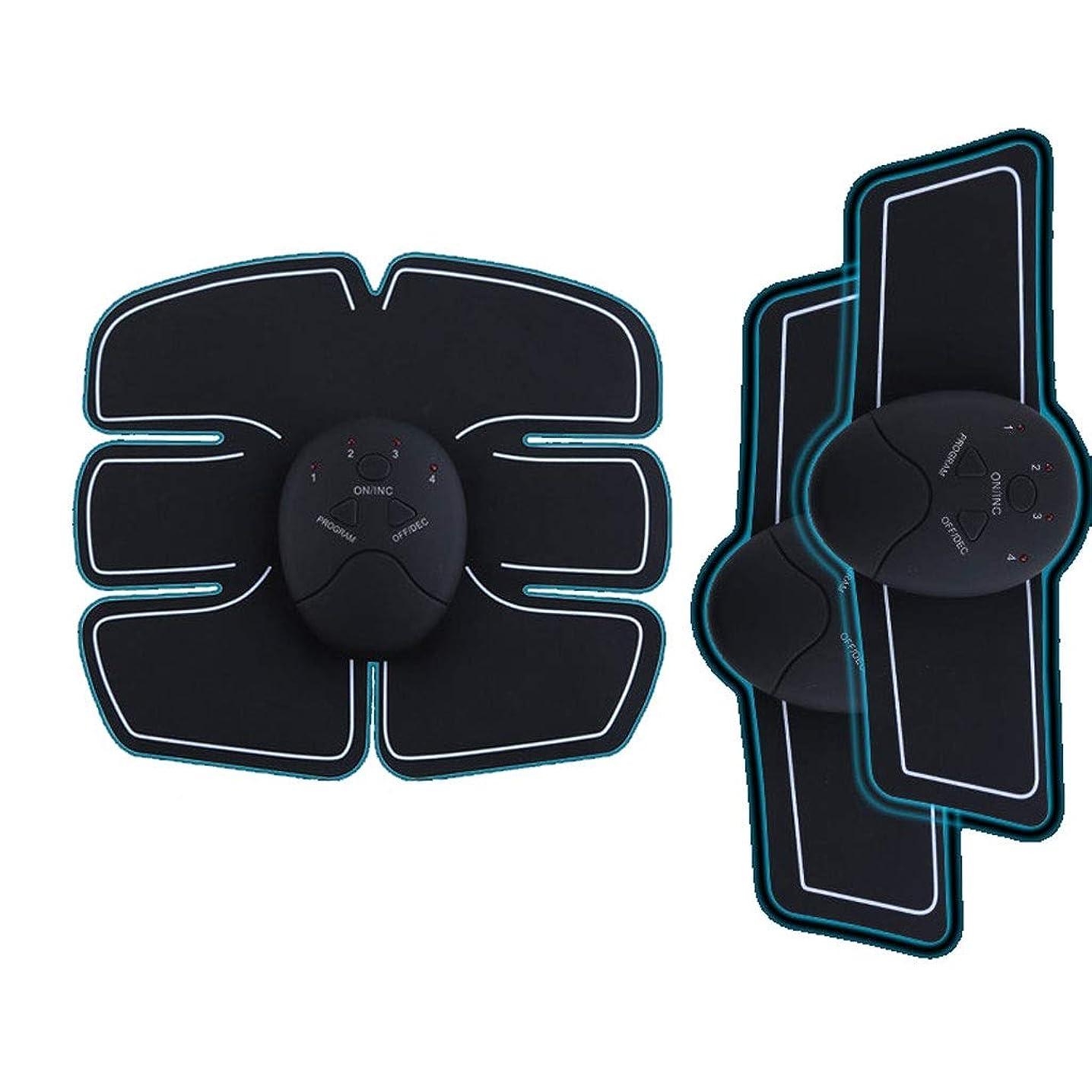 カーテンすぐにシンジケートEMS AbsトレーナーAbベルト、腹部調色ベルト、腹筋刺激装置、ABSマシンAbベルト調色ジムワークアウトマシン用男性&女性 (Size : 3 host set of stickers)