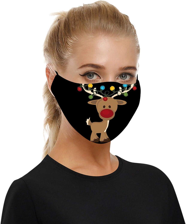 Face_Mask Skull Print Bandana Neck Gaiter Face Scarf Ear Loops Balaclava for Dust_Mask Man Woman