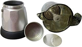 mymerlove 3 to 6 Cup Electric Moka Coffee Pot Percolators Tool Filter Cartridge EU Plug