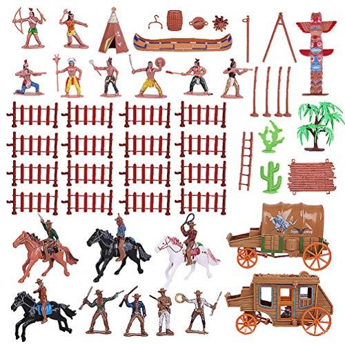 Tomaibaby 1Set Cowboys Und Indianer Figuren Wild West Cowboys Und Indianer Modelle Spielzeug Simulation Schmuck für Dekoration Kinder