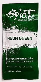Splat Long Lasting Hair Color - 1.5 oz Neon Green/Single