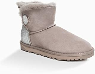 OZWEAR UGG Classic Sparkling Mini Button Boots (Water Resistant) 2 Colours
