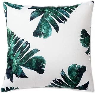 Pantaknot Banana Leaf Decorative Throw Pillow Covers Set of 2 Pillowcase Cushion Home Décor, 18 x 18 Inch