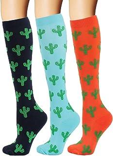 YOLIX Compression Socks for Women & Men 20-30 mmHg - 3/6 Pairs - Best Knee High Socks for Running, Travel, Medical, Pregnancy, Nurse, Teacher