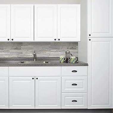 Cabinet Bin Cup Drawer Pulls HOMEKNOBS 10pcs Dresser Cupboard Handles Furniture Kitchen Door Knobs Flat Black (Hole Centre 64