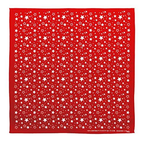 Bestellmich / Bandana Rouge Blanc avec étoiles