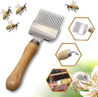 Bienen Entdeckelungsgabel Werkzeug, Bienenwaben-Honig-Edelstahl-Bienenstock-Schaber-Imkerei-Zinken Imkereiausrüstung Zubehör Bienenzucht Werkzeug Bienenhaltung Entdeckelungsgabel