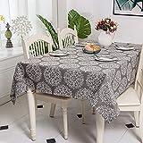 Home's Asciugamano in Cotone Imitazione di Cotone in Stile Nordico Geometrico Bianco E Nero Stampa Cactus Tovaglia in Cotone E Lino120X120Cm