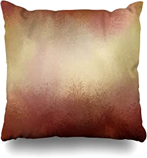 Ahawoso Throw Pillow Cover Page Abstract Gold Red Hues Autumn in Thanksgiving Paint Warm Brown Ange Colors Distressed Sponged Home Decor Pillowcase Square Size 16