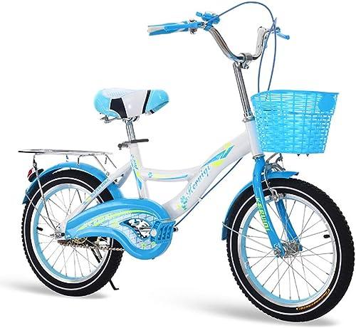 ahorra 50% -75% de descuento FJW Unisexo Unisexo Unisexo Bici del Niño 16 Pulgadas 18 Pulgadas 20 Pulgadas Acero de Alto Carbono Marco Ultraligero Estudiante Bicicleta,azul,16Inch  barato en línea