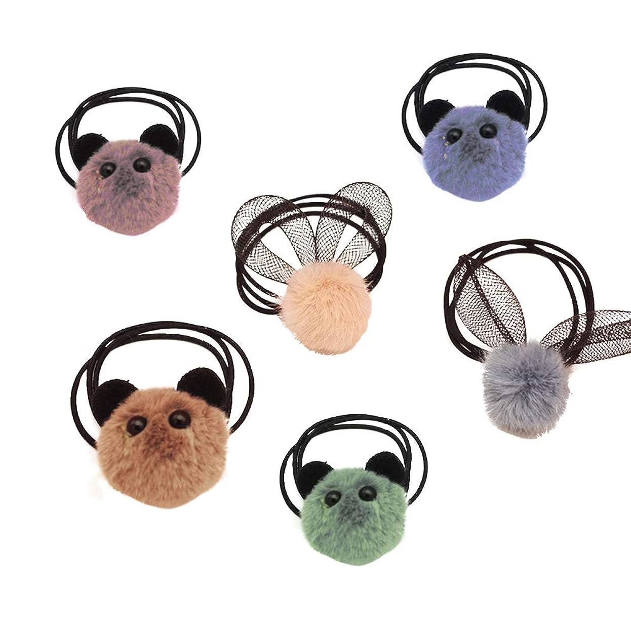 それる誘発する有益Beaupretty 20ピースイースターバニーウサギの耳弾性ヘアネクタイポニーテールホルダー髪弓ヘアアクセサリー幼児や女の赤ちゃんのためのイースター衣装(ランダムカラー)