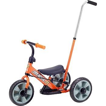 野中製作所 サンライダーFC 三輪車 カジ取り棒付き三輪車からランニングバイクに変身 オレンジ 3392