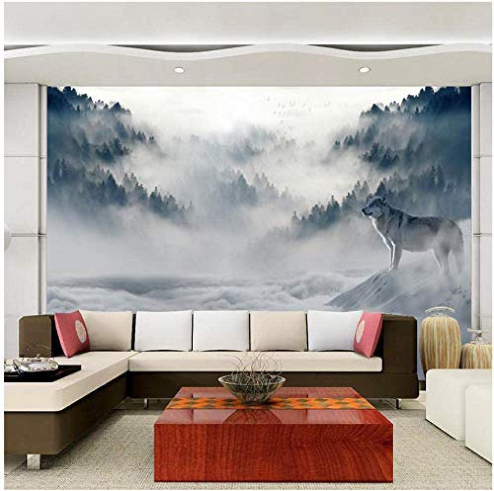 Clhhsy Waterproof and 70% OFF Outlet Max 54% OFF Removable 3D Fog Simple Wallpaper F Modern