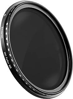 ポラロイド 72mm マルチコーテイング , 可変式 ND (減光)フィルター(ND3, ND6, ND9, ND16, ND32, ND400)