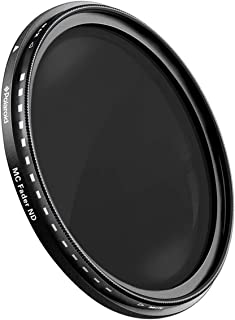 Polaroid Optics 49mm Multi-Coated Variable Range [ND3, ND6, ND9, ND16, ND32, ND400] Neutral Density Fader Filter ND2-ND400- Compatible w/ All Popular Camera Lens Models