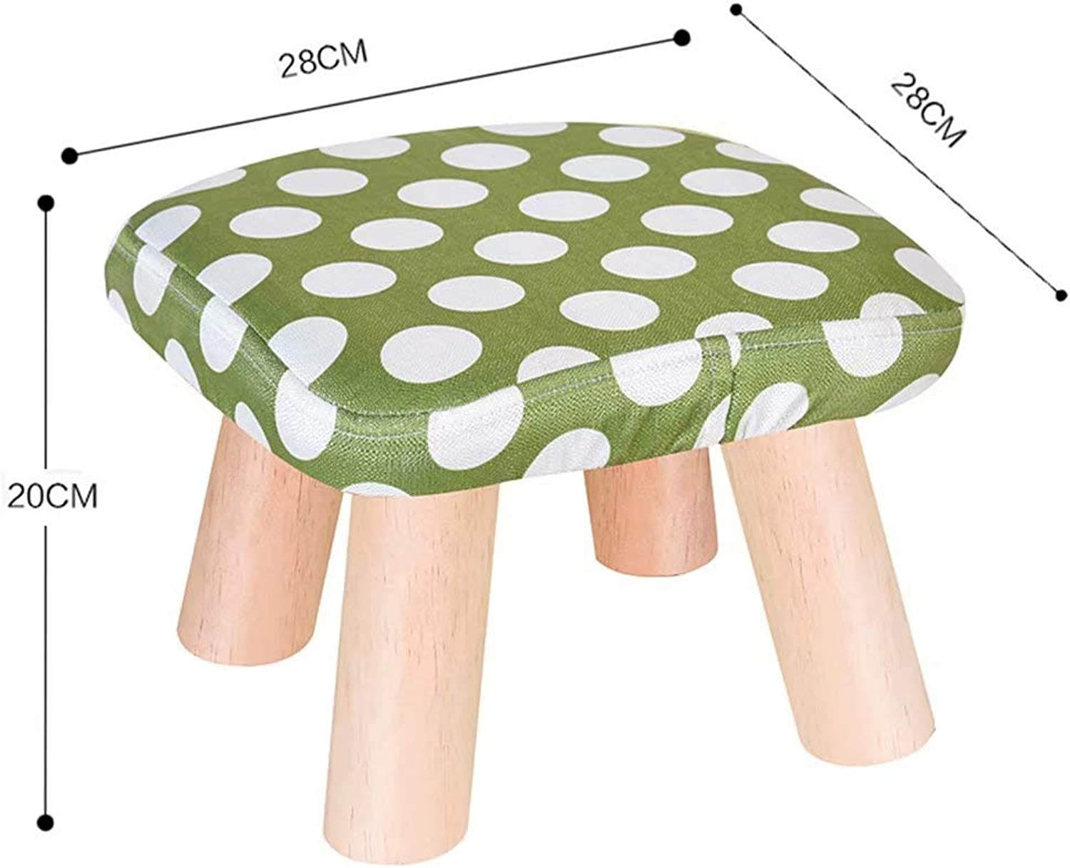 Stools Without Backrest, Round Poufs, Upholstered Footstool