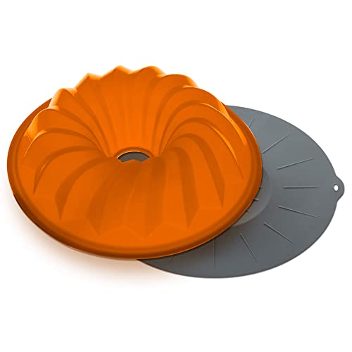 The Clever Cuisine Silicone Bundt Pan Spiral Cake Mold, Perfect Thickness to Keep Consistent Form