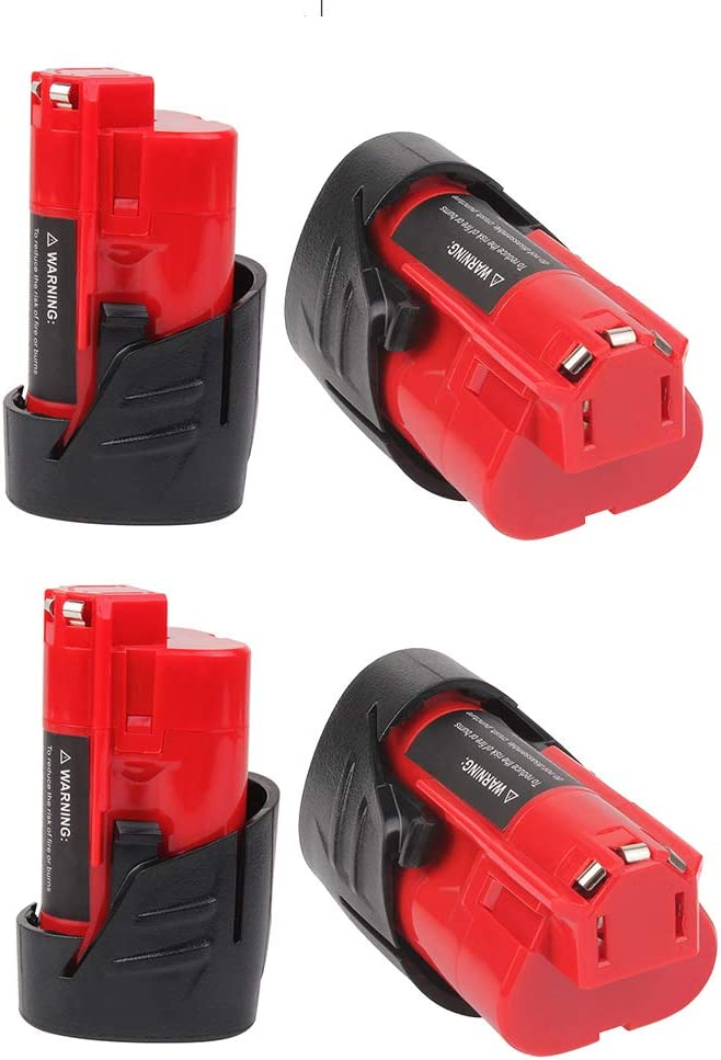 Upgraded 4-Pack 3.5Ah M 12 Battery Milwaukee Bat All items in the Max 40% OFF store 12V Lithium for