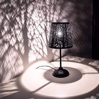 Mini Table Lamps for Bedroom Bedside, Black Forest Lighting- Metal