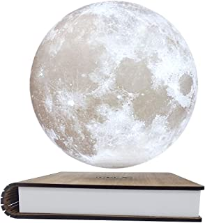 CPLA Magnetic Levitating Moon Lamp 3D Printing Floating and Spinning Unibody Seamless Decorative Table Lamp 【7.1inch-Magnetic Levitating Lamp】