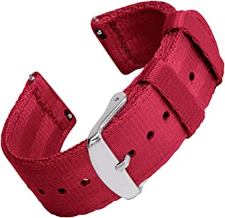 Archer Watch Straps - Seat Belt Nylon Quick Release Watch Bands | Multiple Colors, 18mm, 20mm, 22mm