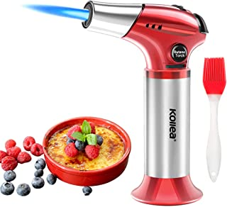Butane Torch, Kollea Kitchen Blow Torch Refillable Cooking Torch Lighter, Mini Creme..