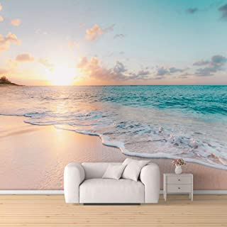 """SIGNFORD Wall Mural Romantic Beach Removable Wallpaper Wall Sticker for Bedroom Living Room 66""""x96"""""""